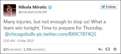 Tweet Nikola Mirotic