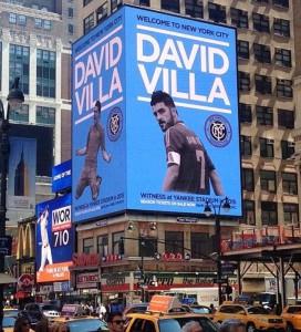 Cartel de David Villa en Manhattan