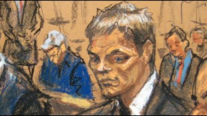 Dibujo oficial de Tom Brady durante la audiencia