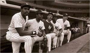 Jugadores de los Yankees en los 90